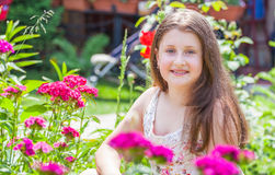 Portrait of 10 year old girl Royalty Free Stock Images