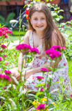 Portrait of 10 year old girl Stock Image