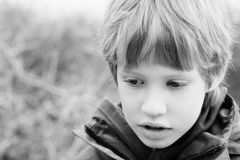 Portrait of 6 years old boy Royalty Free Stock Photo