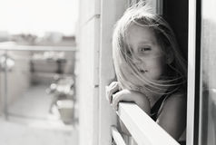 Portrait of 5 years old girl Royalty Free Stock Photo