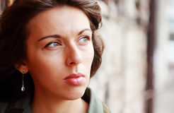 Portrait of 25-years-old girl. Outdoors royalty free stock photos