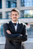 Portrait of a young adult business man stock images