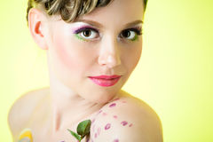 Portrait of young adult woman Royalty Free Stock Photo