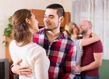 Portrait of young adults having grave dances Stock Photography