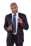 Portrait of a young African American business man royalty free stock photo