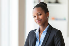 Portrait of a young African American business woman - Black peop Stock Photo
