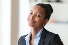 Portrait of a young African American business woman - Black people royalty free stock photo