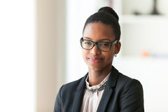 Portrait of a young African American business woman - Black peop Royalty Free Stock Photos