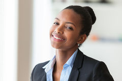 Portrait of a young African American business woman - Black peop Stock Photos