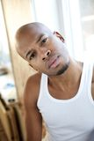 Portrait of a young african american man Stock Images