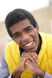 Portrait of a Young African American Man Smiling Stock Photography