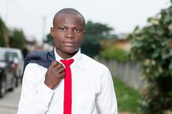 Portrait of young African businessman stock photography