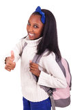 Portrait of young african student Stock Image