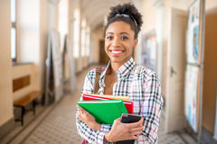 Portrait of a young african student Stock Photos