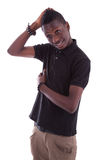 Portrait of a young african teenager smiling Royalty Free Stock Images