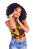 Portrait Of Young African Woman Smiling Royalty Free Stock Photo