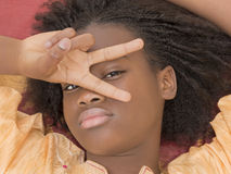 Portrait of a young Afro girl, thirteen years old Stock Photography