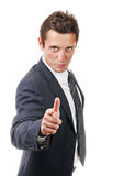 Portrait of a young ambitious business man Stock Images