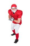 Portrait of young american football player Stock Images