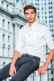 Portrait of Young American Man in New York Stock Photography