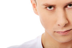 Portrait of young angry man Stock Image