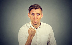 Portrait of young angry man Royalty Free Stock Photo