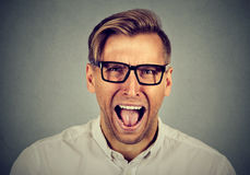 Portrait of young angry man Royalty Free Stock Photos