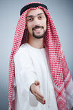 Portrait of young arab. On the dark background Royalty Free Stock Images