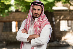 Portrait Of Young Arab Saudi Emirates Man Royalty Free Stock Photography