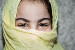Portrait of young arab woman with veil Royalty Free Stock Image