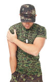 Portrait of young army soldier Royalty Free Stock Photo