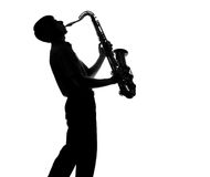 Portrait of a young artist with a sax Stock Image