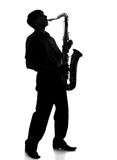 Portrait of a young artist with a sax Royalty Free Stock Images