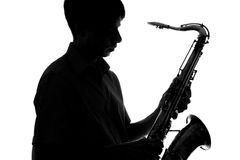 Portrait of a young artist with a sax Stock Photography