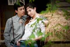 Portrait of young artistic couple Royalty Free Stock Image