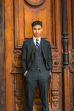 Portrait of Young Asian American Business Man in New York Stock Images