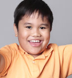 Portrait of young Asian boy Stock Photo