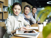 Portrait of a young asian business team Stock Photo