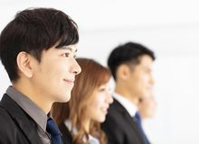 Portrait of young business team in office Royalty Free Stock Photo