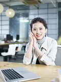 Portrait of young asian business woman Royalty Free Stock Image