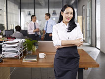Portrait of young asian business woman Stock Photos