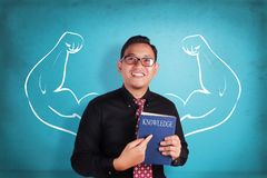 Businessman Inner Power and Knowledge Book Royalty Free Stock Photography