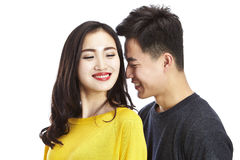 Portrait of young asian couple Royalty Free Stock Photography