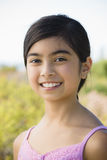Portrait of Young Asian Girl. Smiling at the Beach Royalty Free Stock Image