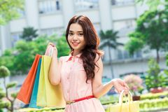 Lucky shopping Stock Photo