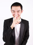Portrait of young asian man wearing tuxedo. Royalty Free Stock Photos