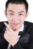 Portrait of young asian man wearing tuxedo. Stock Photography