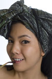 Portrait of young Asian woman with headscarf Royalty Free Stock Photography