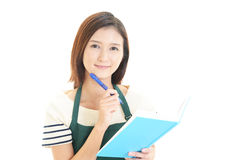 Portrait of a young Asian woman stock images