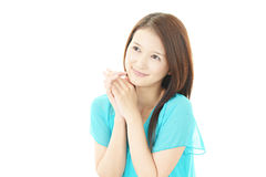 Portrait of a young Asian woman royalty free stock photos